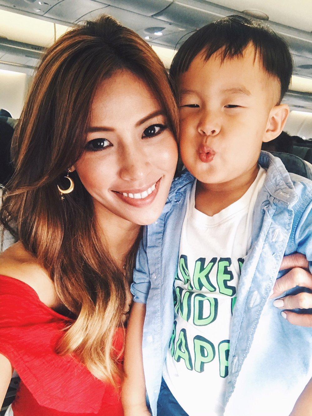 Grace and her son Oscar.