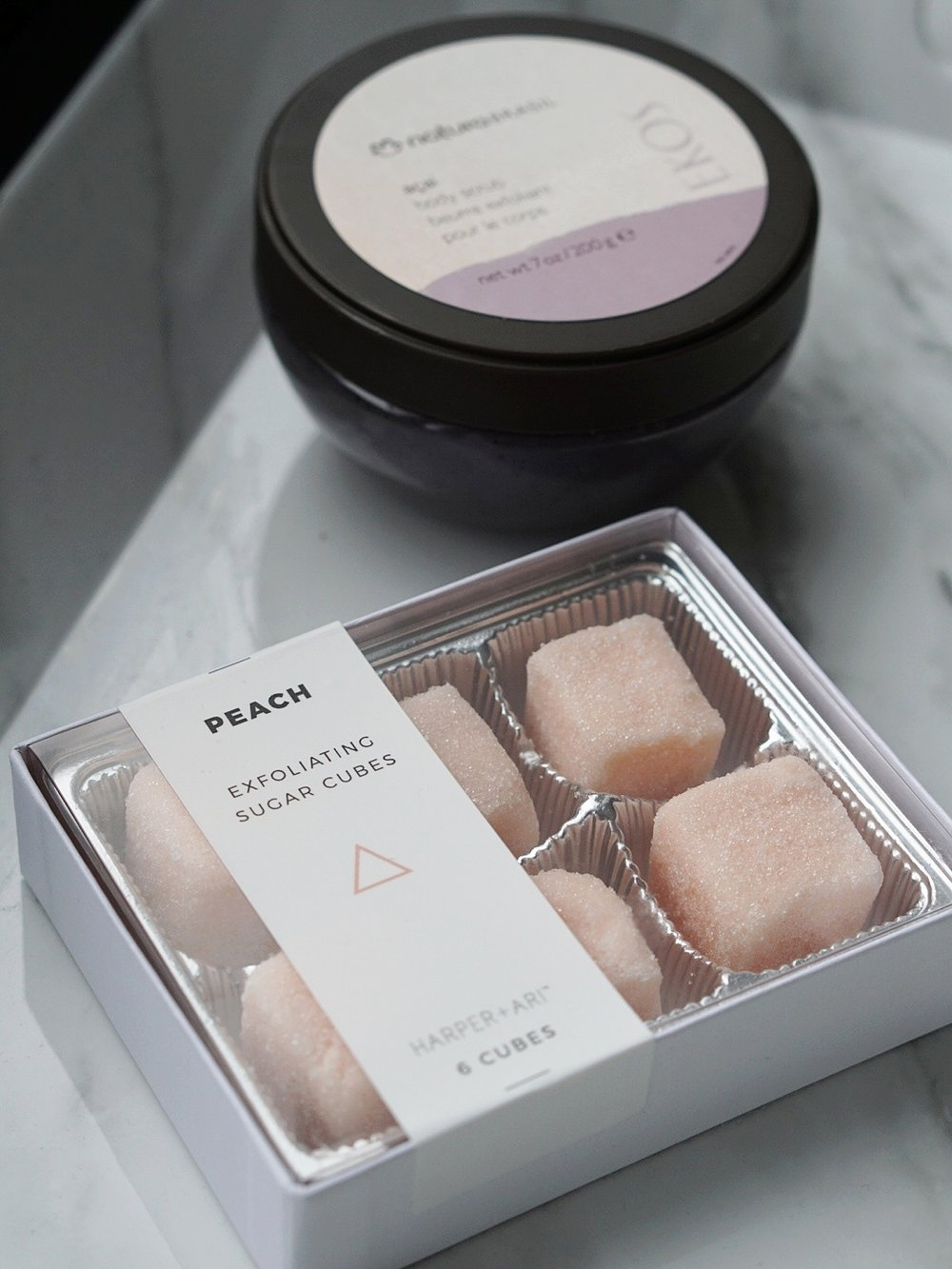 The cubes may look and smell edible, but they're really only designed to exfoliate.