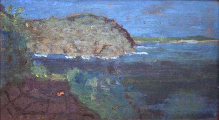 """Gordon Onslow Ford, UNTITLED, 1923, oil/wood, 5 1/8"""" x 9 1/8"""", Gordon Onslow Ford Collection, Lucid Art Foundation"""