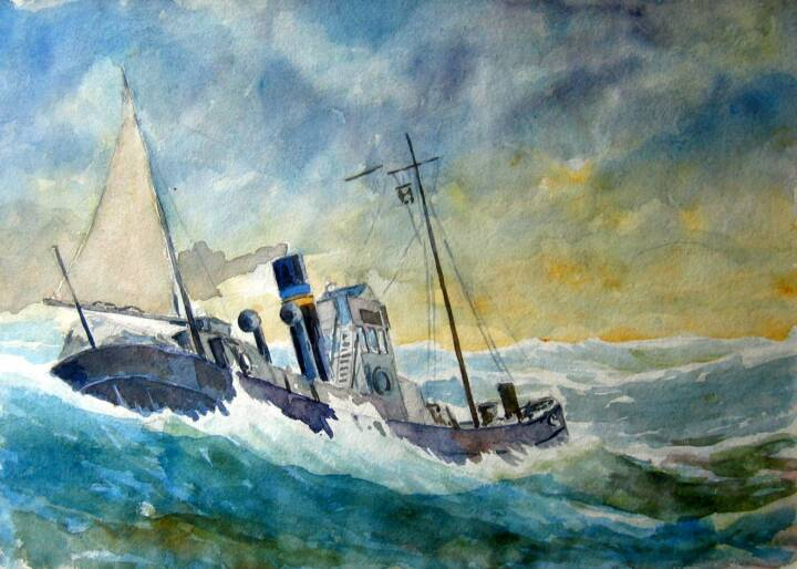 """Gordon Onslow Ford, DRIFTER, 1931, watercolor/paper, 9 7/8"""" x 13 7/8"""", Gordon Onslow Ford Collection, Lucid Art Foundation"""