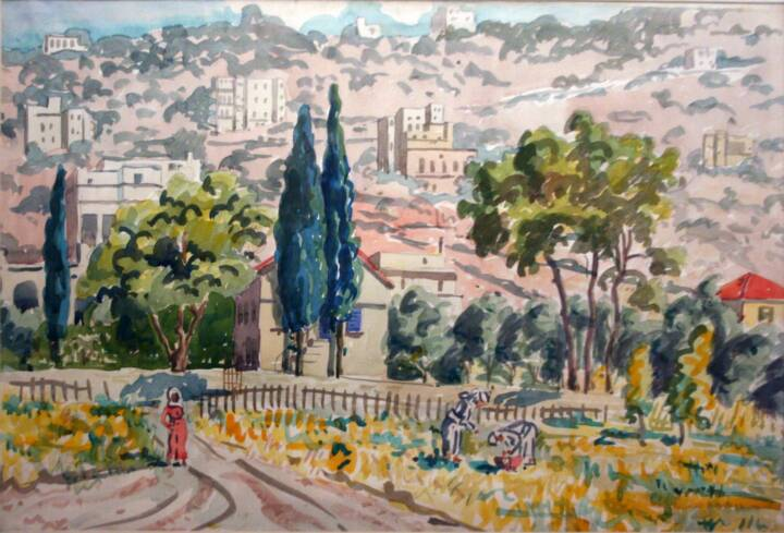"""Gordon Onslow Ford, UNTITLED, 1932, watercolor/paper, 15"""" x 22 1/2"""", Gordon Onslow Ford Collection, Lucid Art Foundation"""