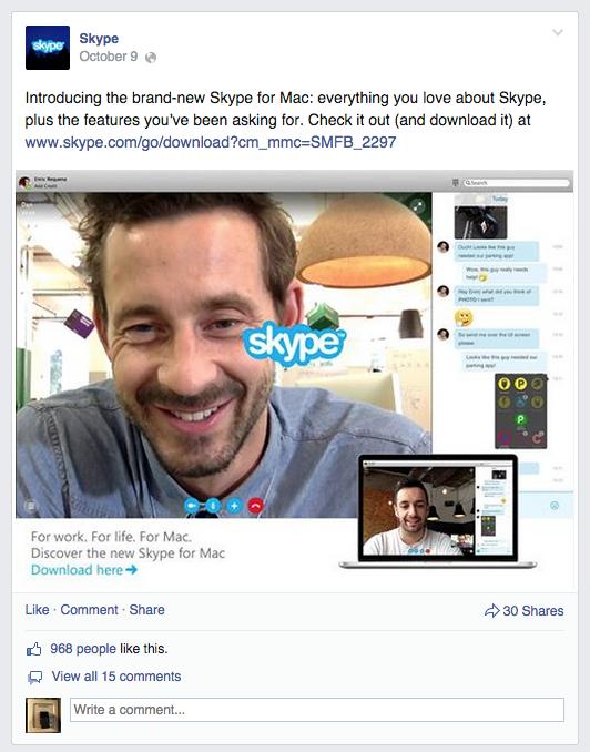 Skype for mac launch campaign idea czar skype for mac launch facebook post ccuart Images