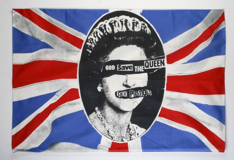 "The classic design of the Pistols' ""God Save the Queen"" single"