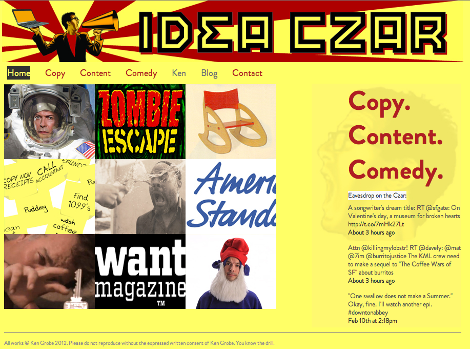 Ideaczar.me home page