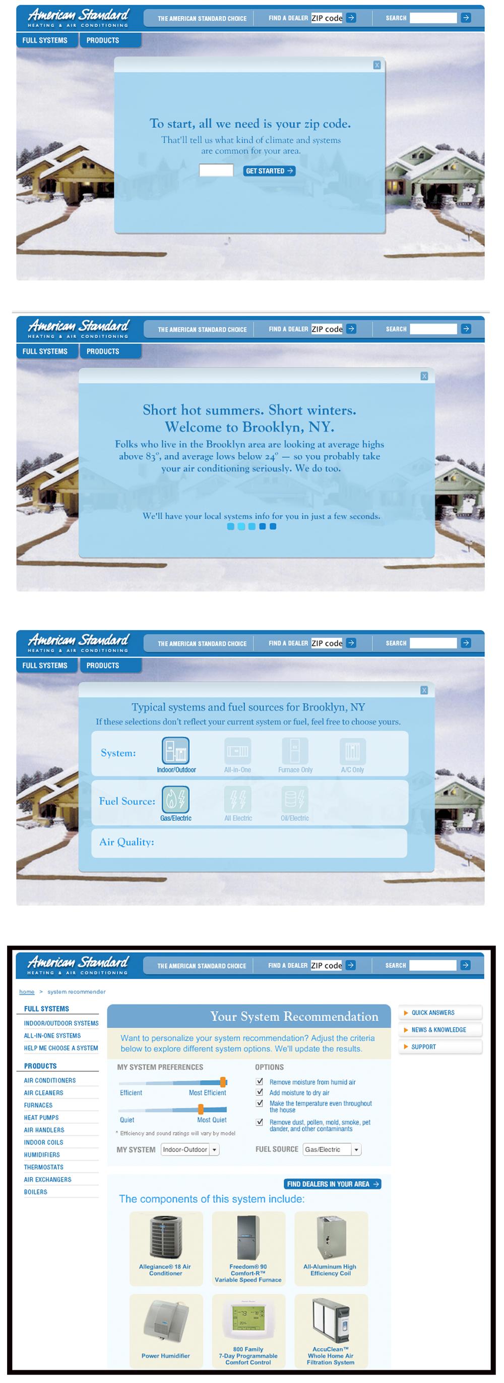 American Standard Air Web Site — Idea Czar