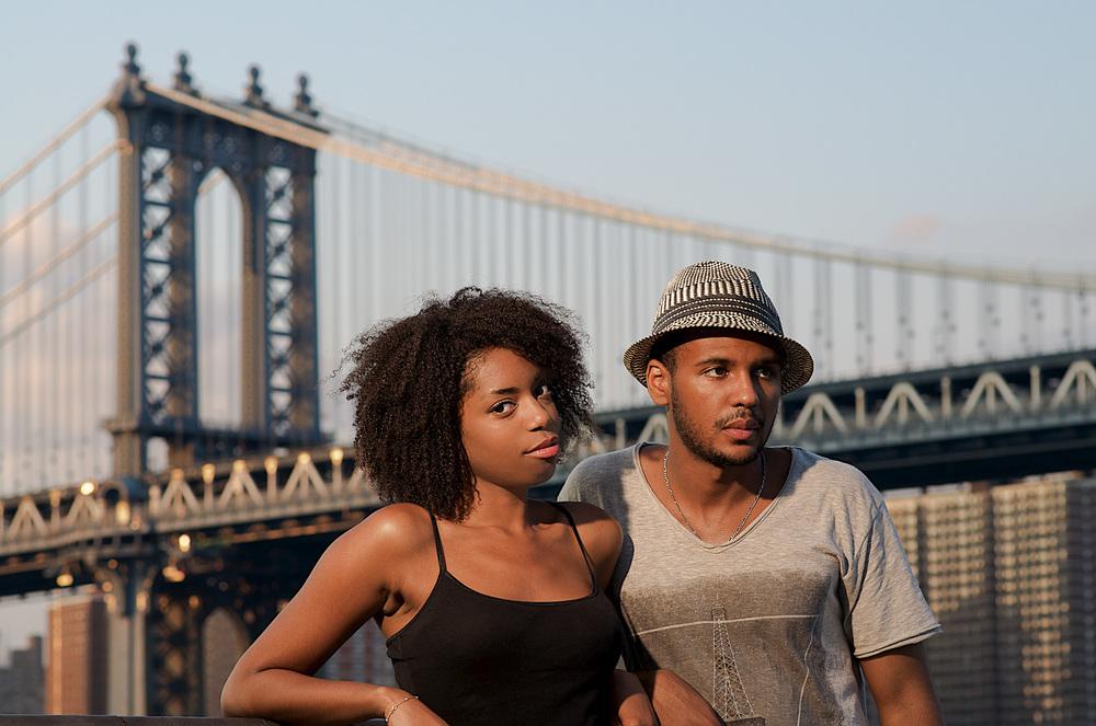 Environmental Portrait, Manhattan Bridge, Brooklyn
