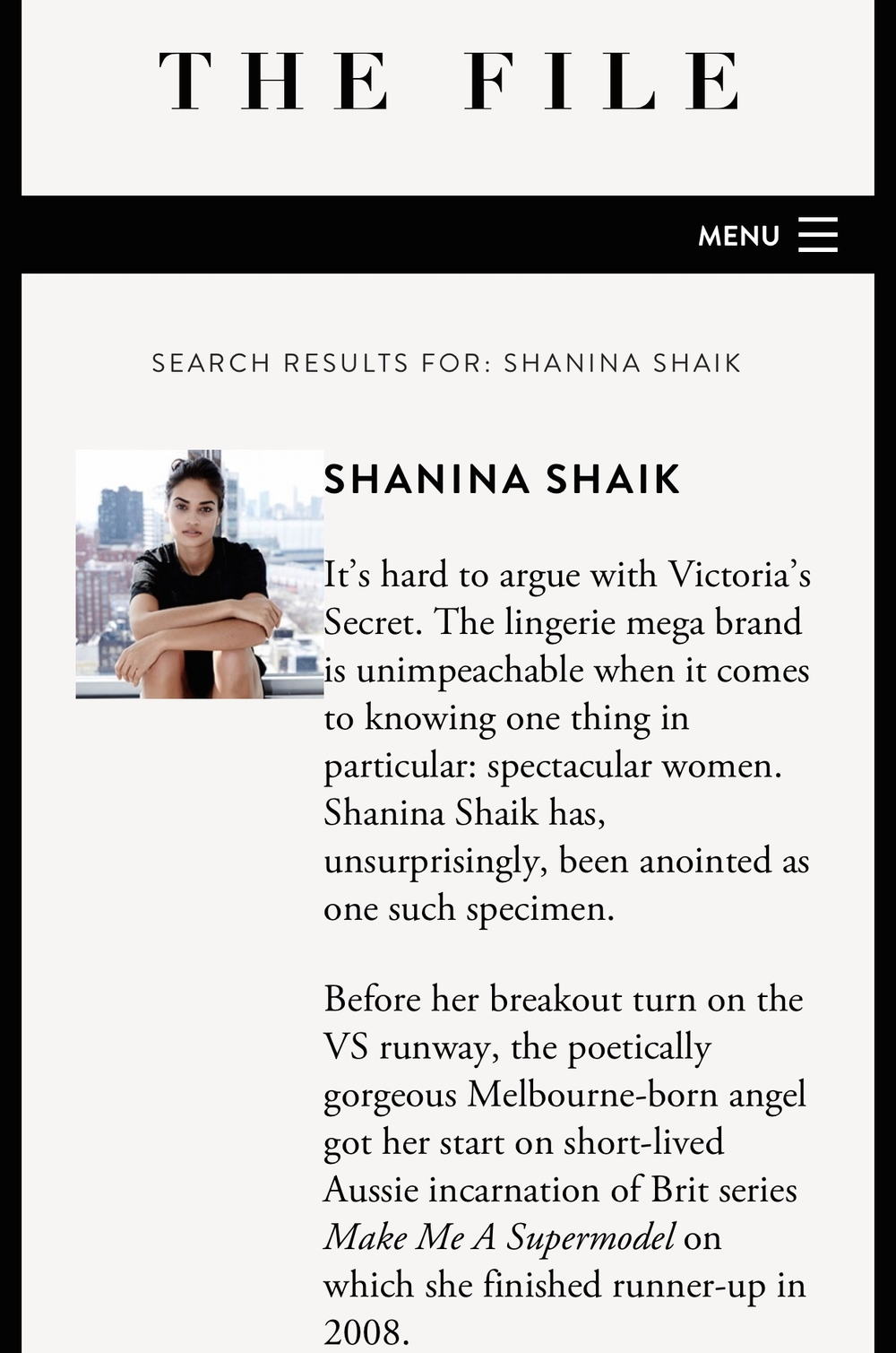 Shanina Shaik - The File
