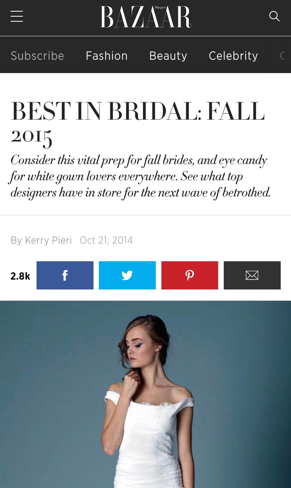 HARPER'S BAZAAR BRIDAL FASHION WEEK