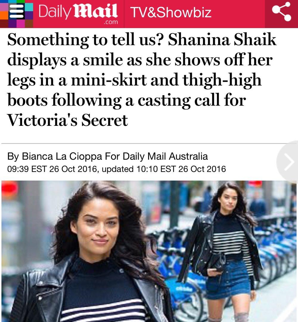 Shanina Shaik - Daily Front Row
