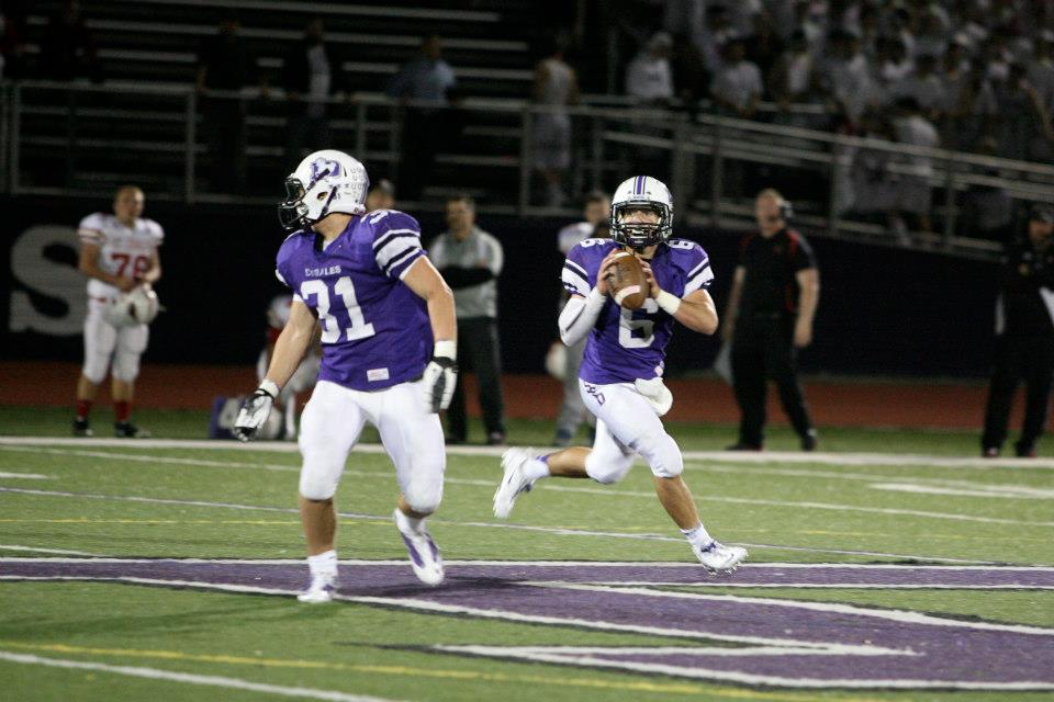 JT Blubaugh (31) and Alex Perrine each scored twice to lead the Stallions to their 36th straight win over St. Charles (photo credit - Barb Dougherty)