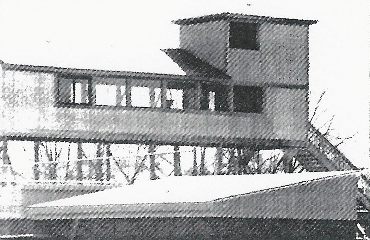 Construction on the original press box