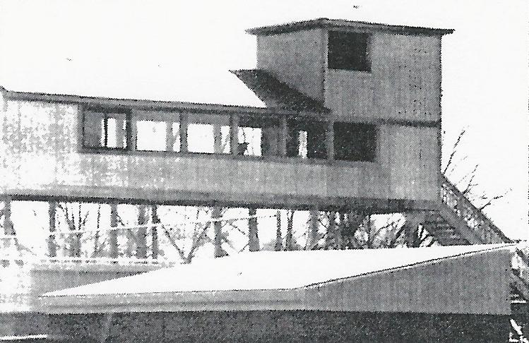 Construction on the original press box