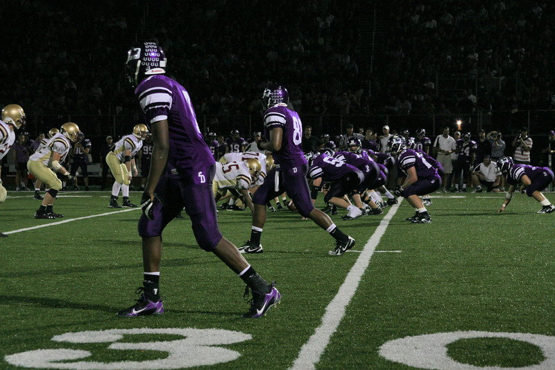 The Stallions on offense against Bishop Watterson in the 4th quarter (photo credit - Manny Pace)