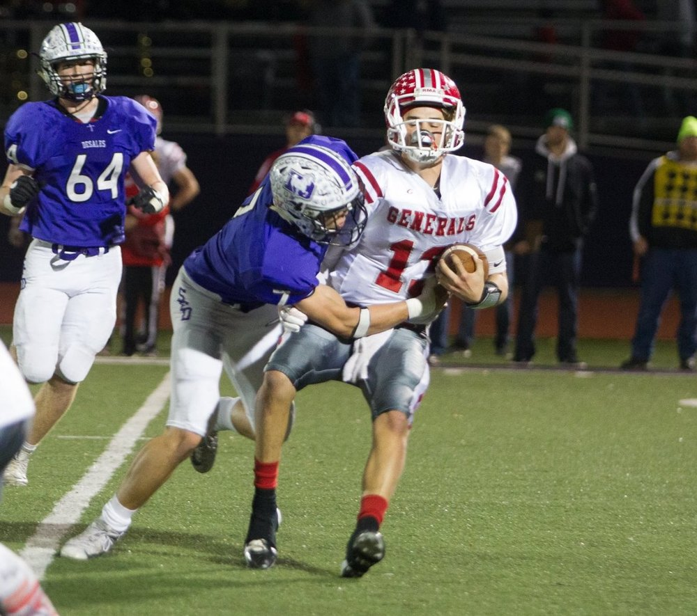 Ty Van Fossen (7) led the Stallions with 7 tackles, including 4 for a loss