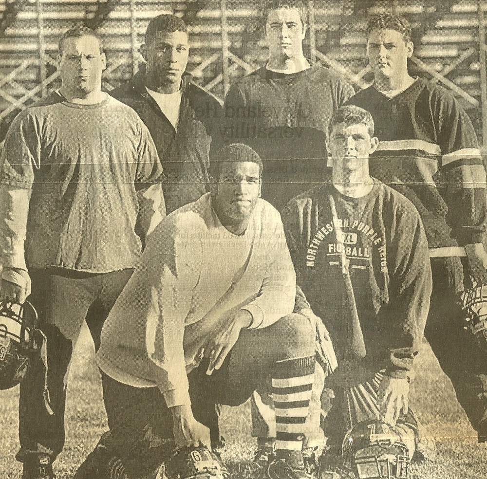 1998 Starting Offensive Line  Dan Koons (pictured back row, second from the right)