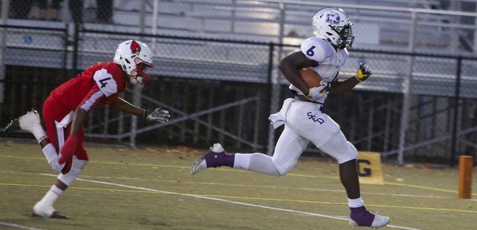 Brian Asamoah (6) scored twice, rushed for 113 yards on 12 carries, and recorded 3.5 tackles for loss