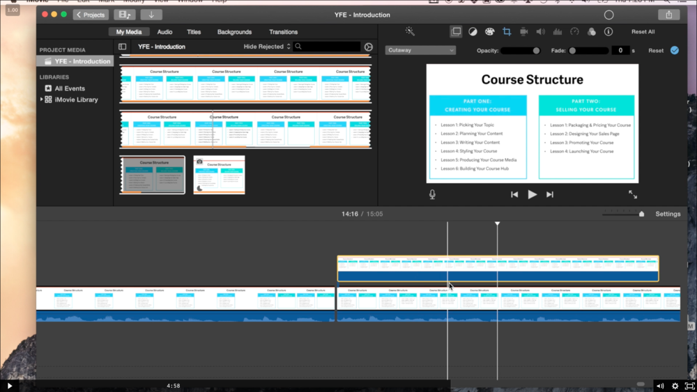 This screencast walks you through the basics of editing your lesson videos to give that polished, professional feel!