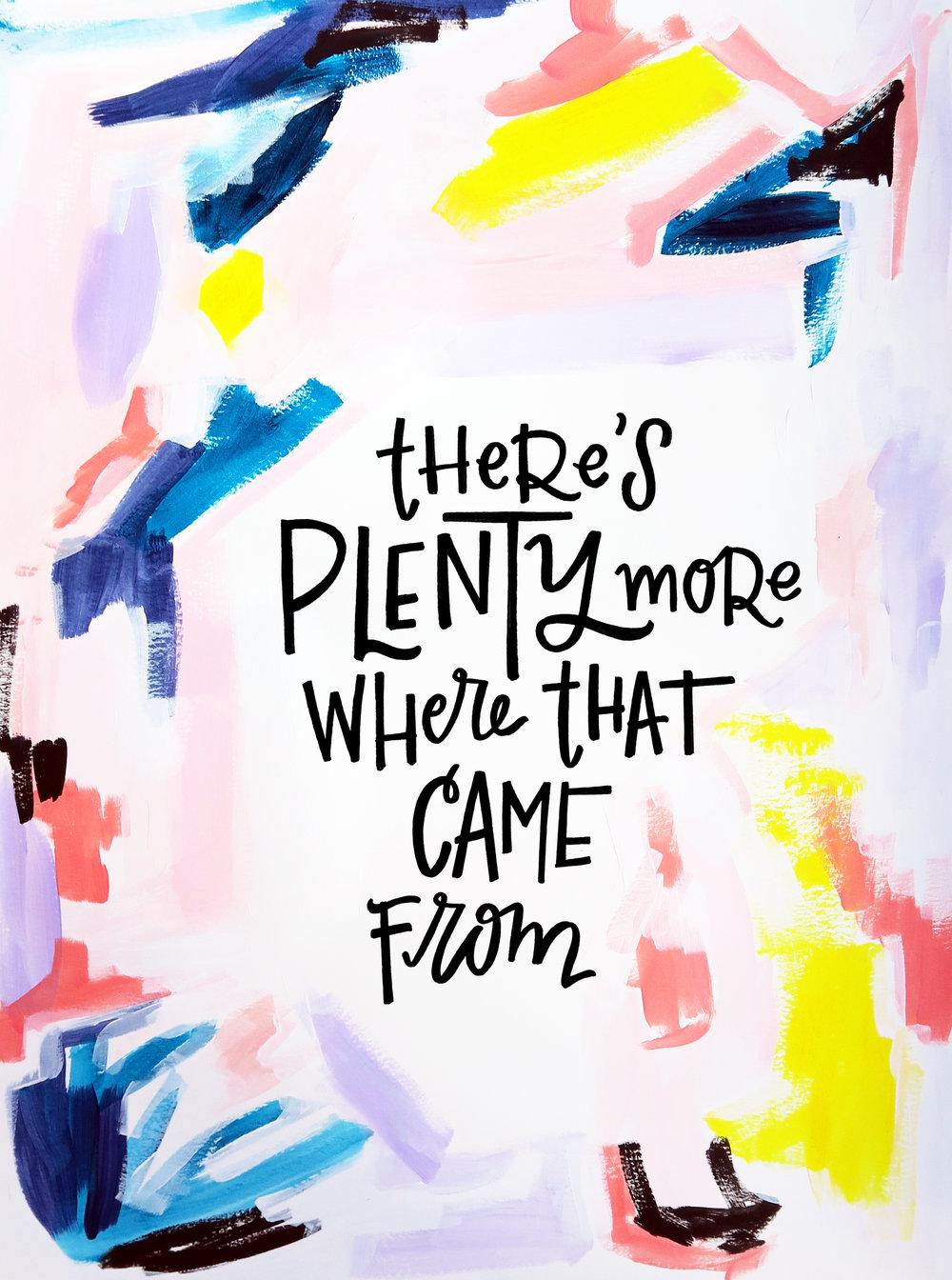 3/29/16: Plenty