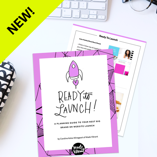 Ready To Launch E-Guide: A free guide for marketing ideas, a launch checklist and a Google Spreadsheet to help you plan your launch.