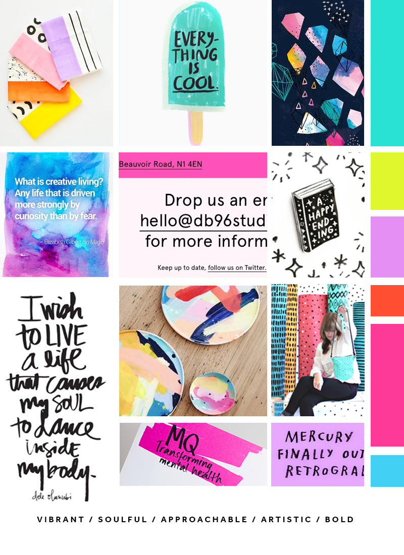 New mood board for Made Vibrant 3.0 brand