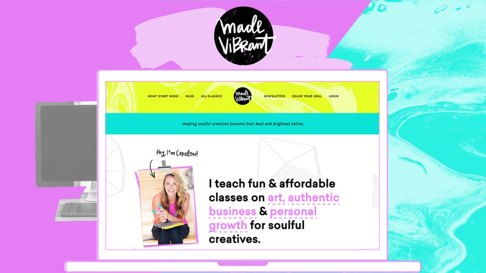 Made Vibrant 3.0 website design / vibrant, approachable, and creative