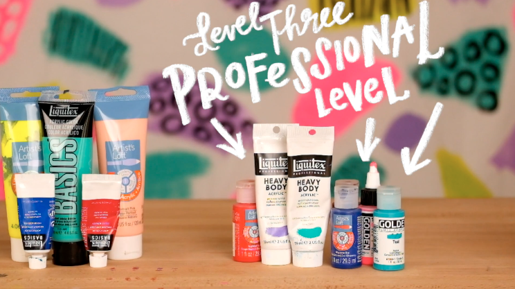 Acrylic paints for professionals