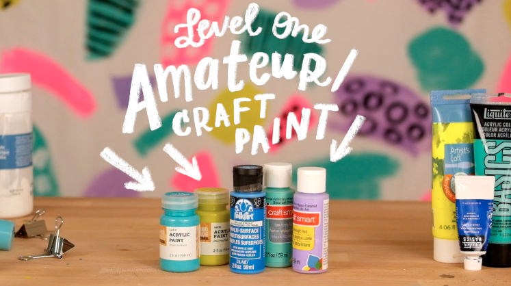 How to get started with acrylic abstract painting / tips and supplies via Made Vibrant