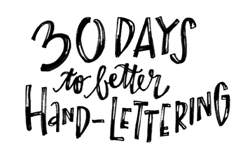 Better Lettering Course via Made Vibrant / improve your lettering in 30 days!