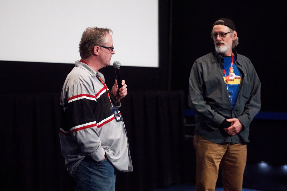 Stewart Koski (left) director of THE PEPIE LEGEND, and Steven Chappel director of HOW TO TALK TO YOUR KIDS ABOUT ED GEIN ((Photo by Luong Huynh)