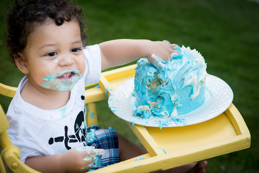 Pirate first birthday cake smash session with austin texas photographer EP Photography