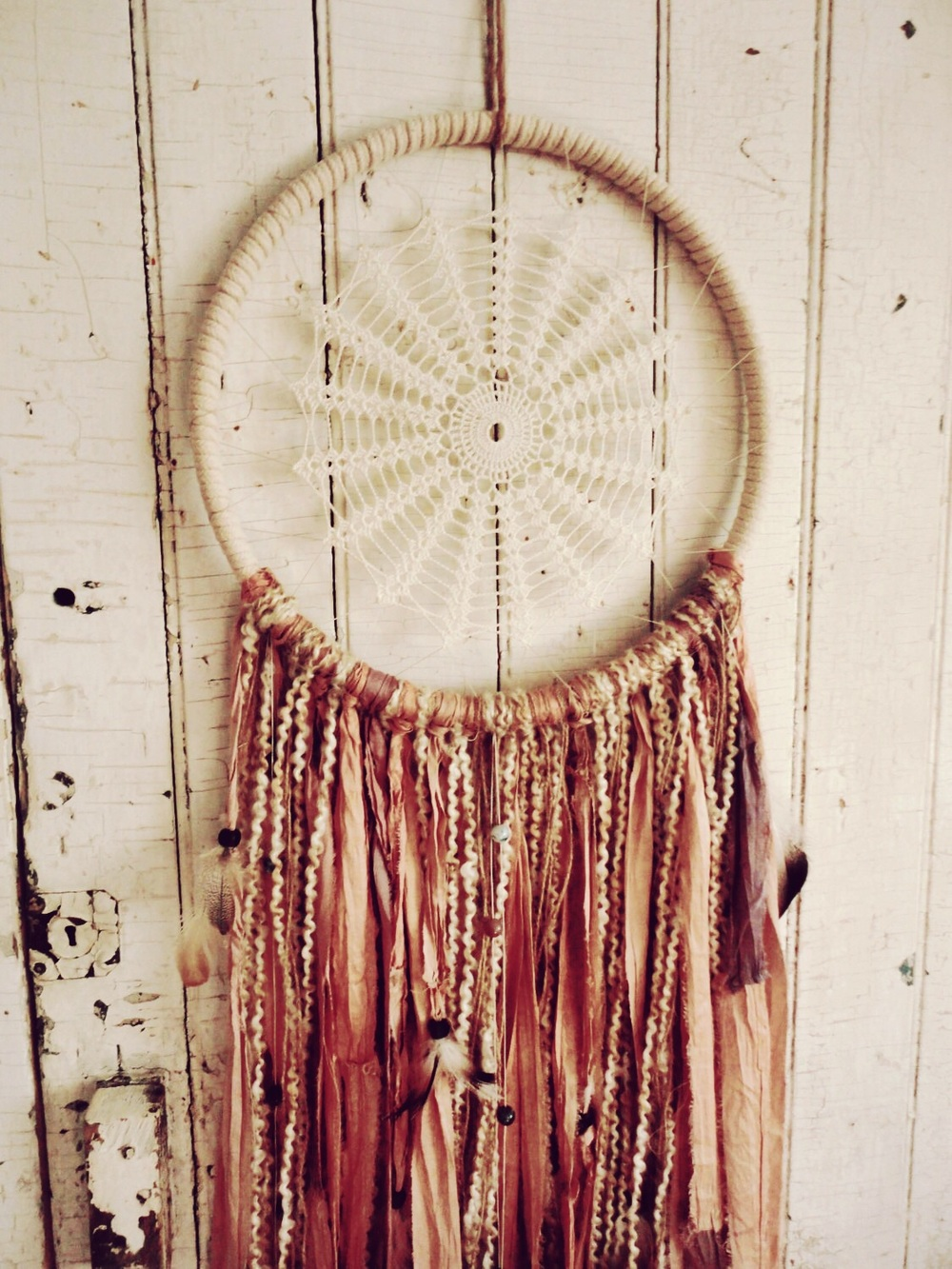 Recycled silk dream catchers; etsy-  TnBCdesigns