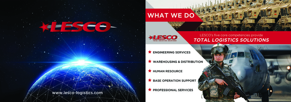 2018 LESCO LOGISTICS NEW BOOTH GRAPHICS FOR SPACE MISSILE DEFENSE SYMPOSIUM