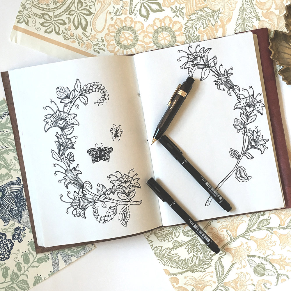 Flower_Leaves_drawing_notebook