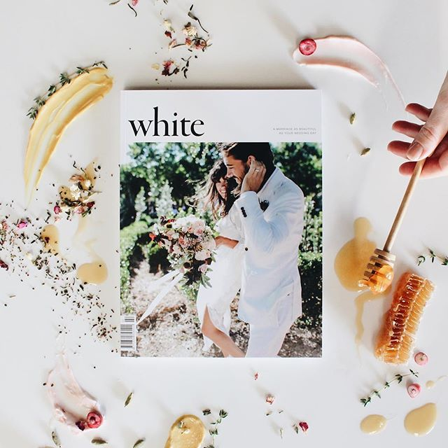 So happy to be featured in the latest @whitemagazine , on shelves today ✨Amazing cover shot by @larahotzphotography . . . #withpaloma #weddingstationery #invitations #eventstationery #whitemagazine