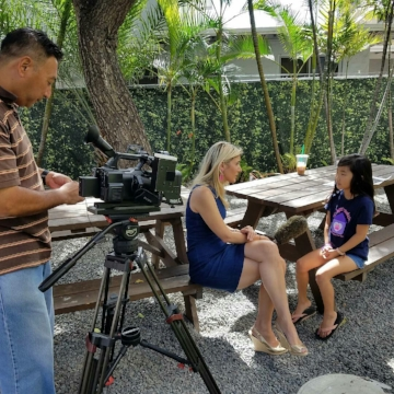 FAFedu being interviewed by KITV4!