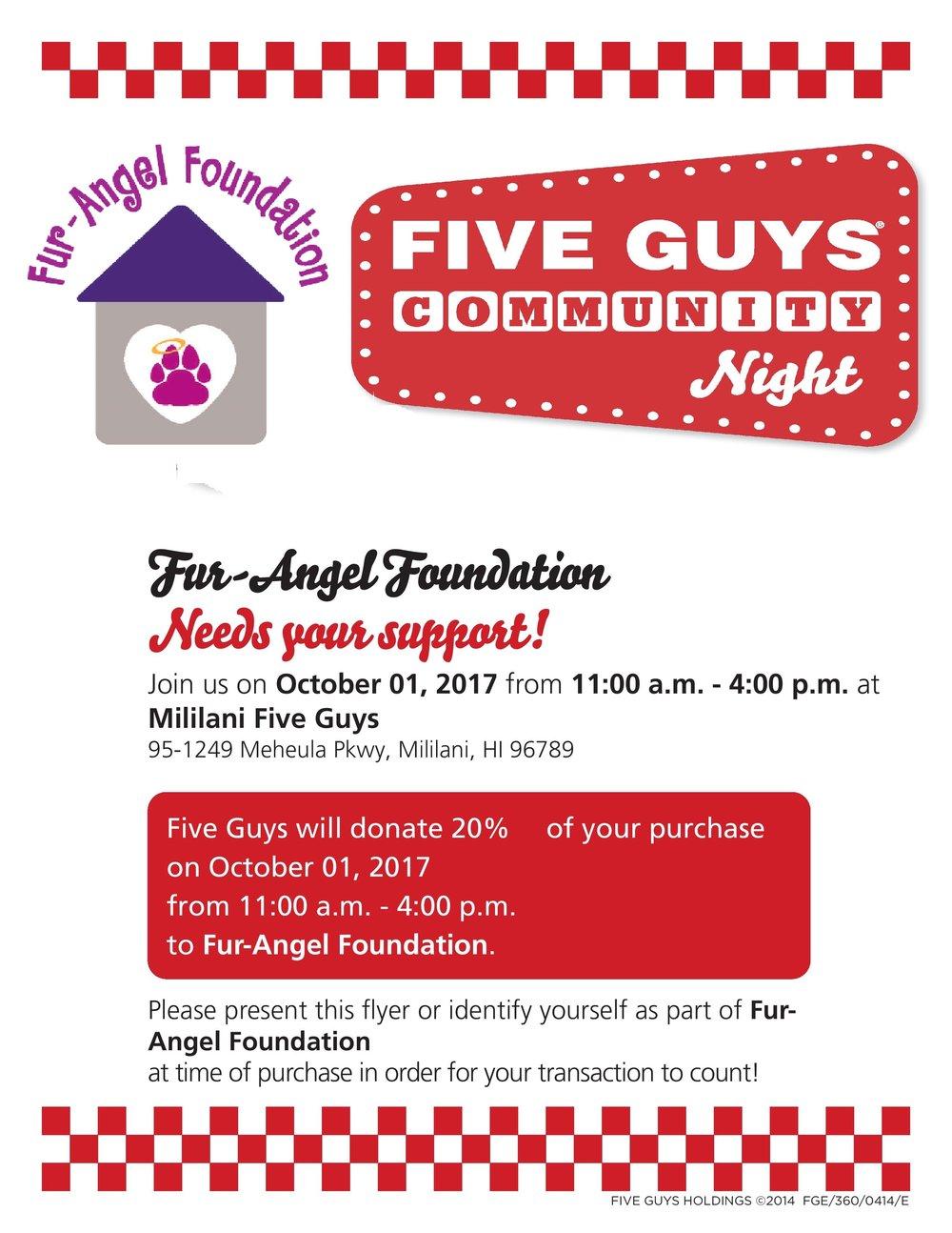 Mililani Fur-Angel Foundation Community Night Flyer.jpg