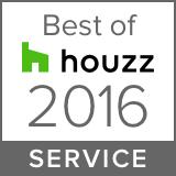 Houzz Best Service Winner 2016