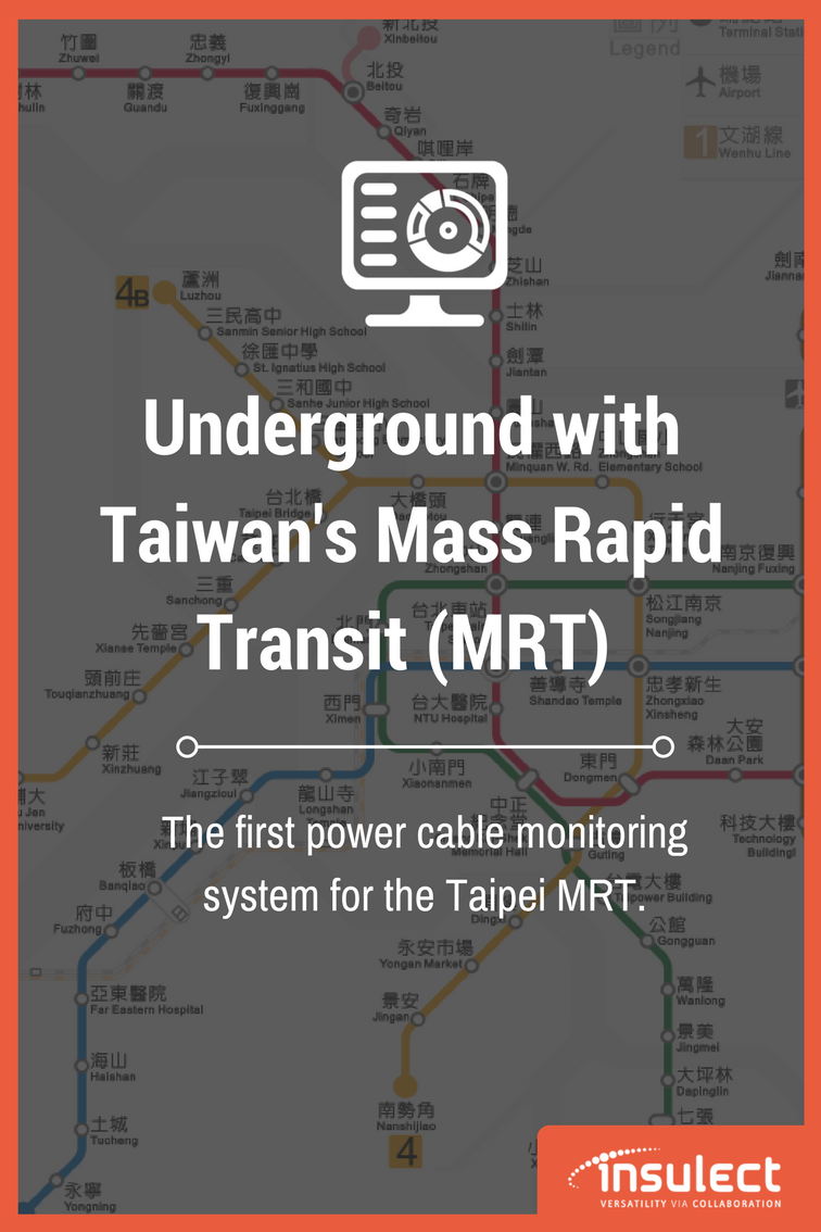 Underground cable monitoring in Taiwan Taipei MRT