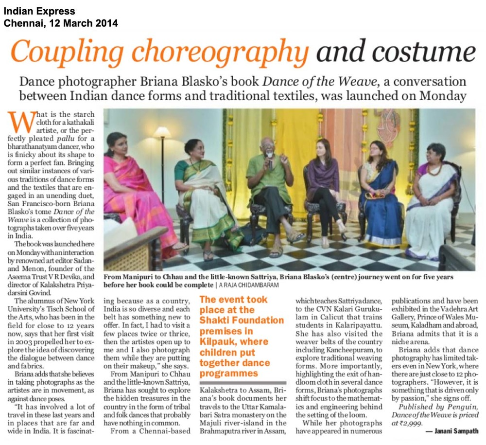 03Dance of the Weave, Indian Express, Chennai, Mar1214.jpg