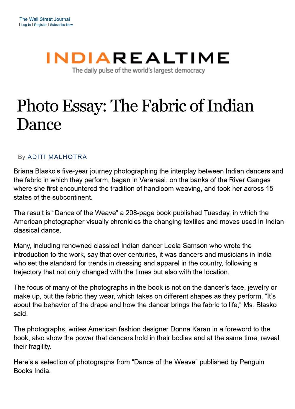 WSJ: India RealTime