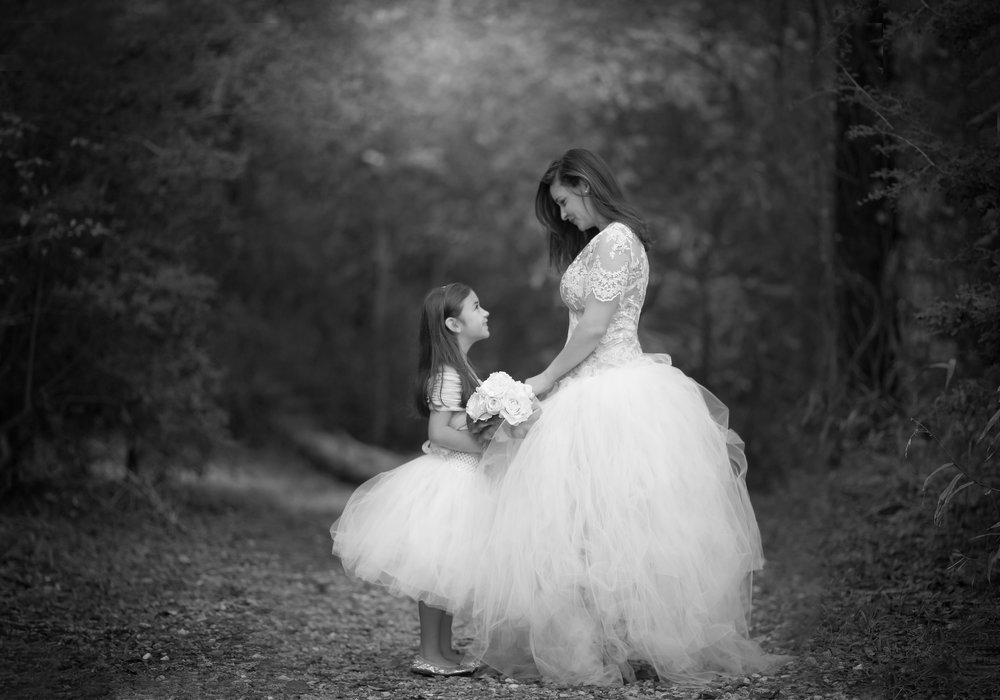 Mommy and daughter portraits
