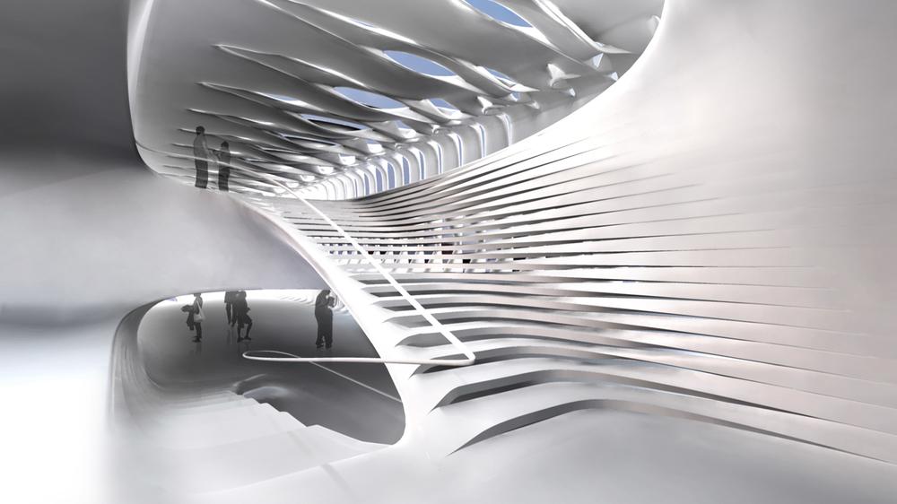 Interior exhibition space