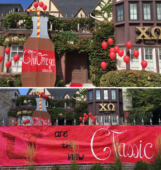 ADORABLE Coca Cola theme from Chi Omega Utah  ❤️