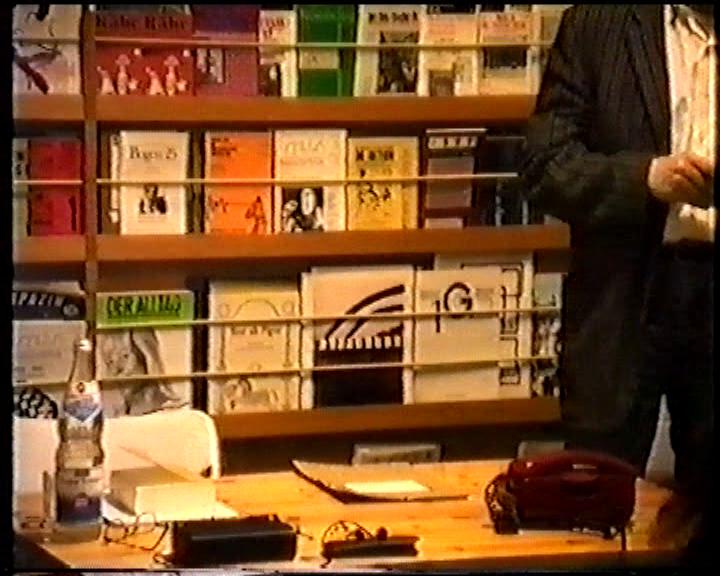 MAPPA MASTER – HARTMUT GEERKEN, AUTORENBUCHHANDLUNG   Ein Film von Romuald Karmakar,Deutschland 1989, 69 Min Filmstill Photo © 1989 Pantera Film GmbH