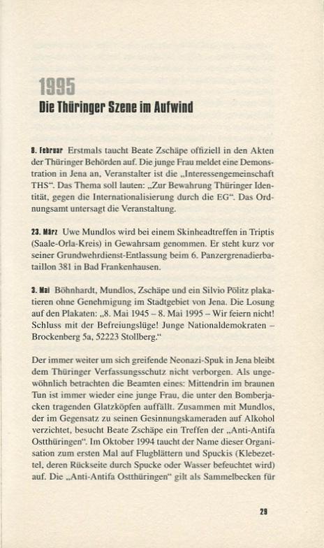 DAS ZWICKAUER TERROR TRIO – Ereignisse, Szene, Hintergründe