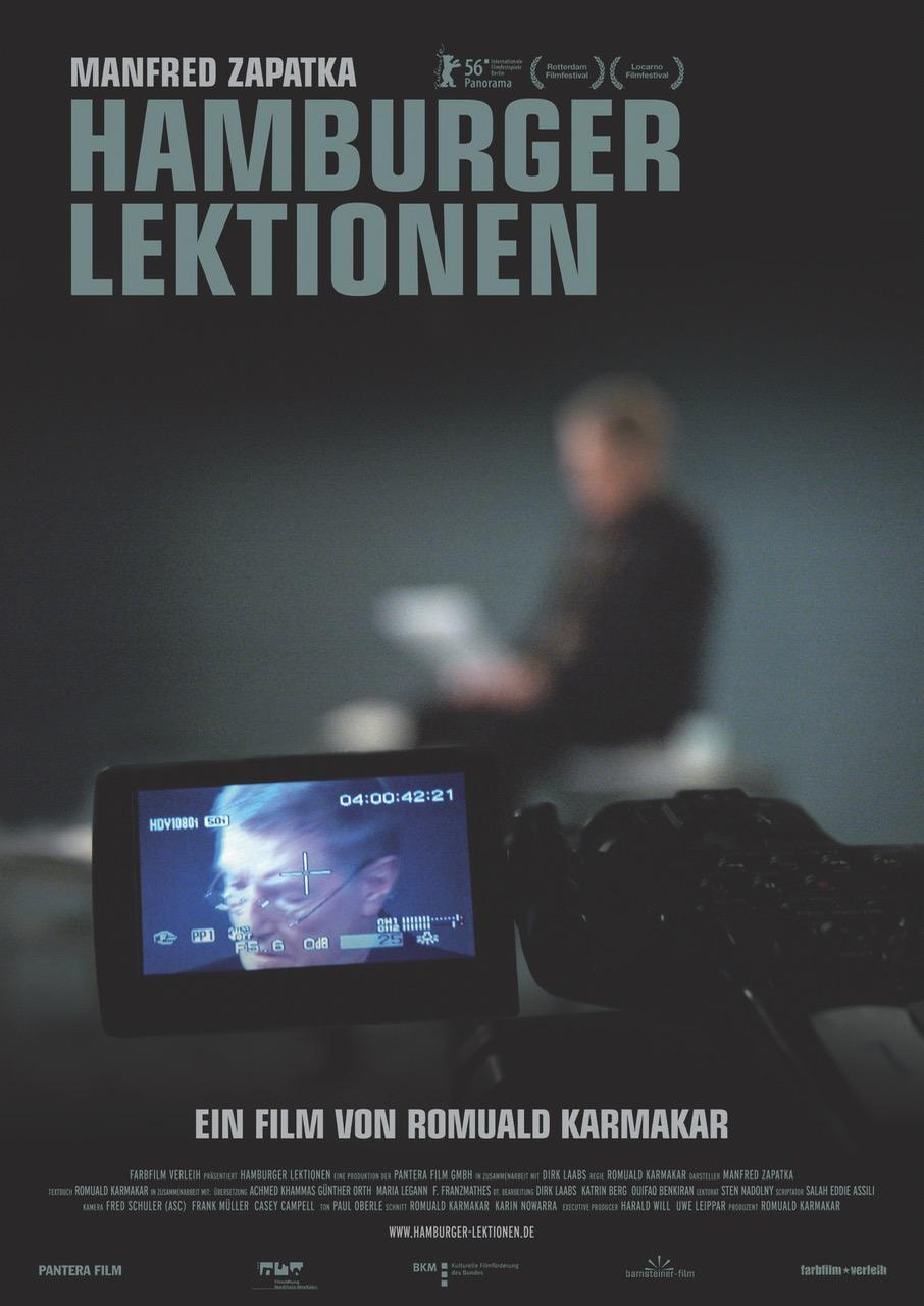 HAMBURGER LEKTIONEN Ein Film von Romuald Karmakar, Deutschland 2006, 134 Min Original Kinoplakat © 2007 Farbfilm Verleih