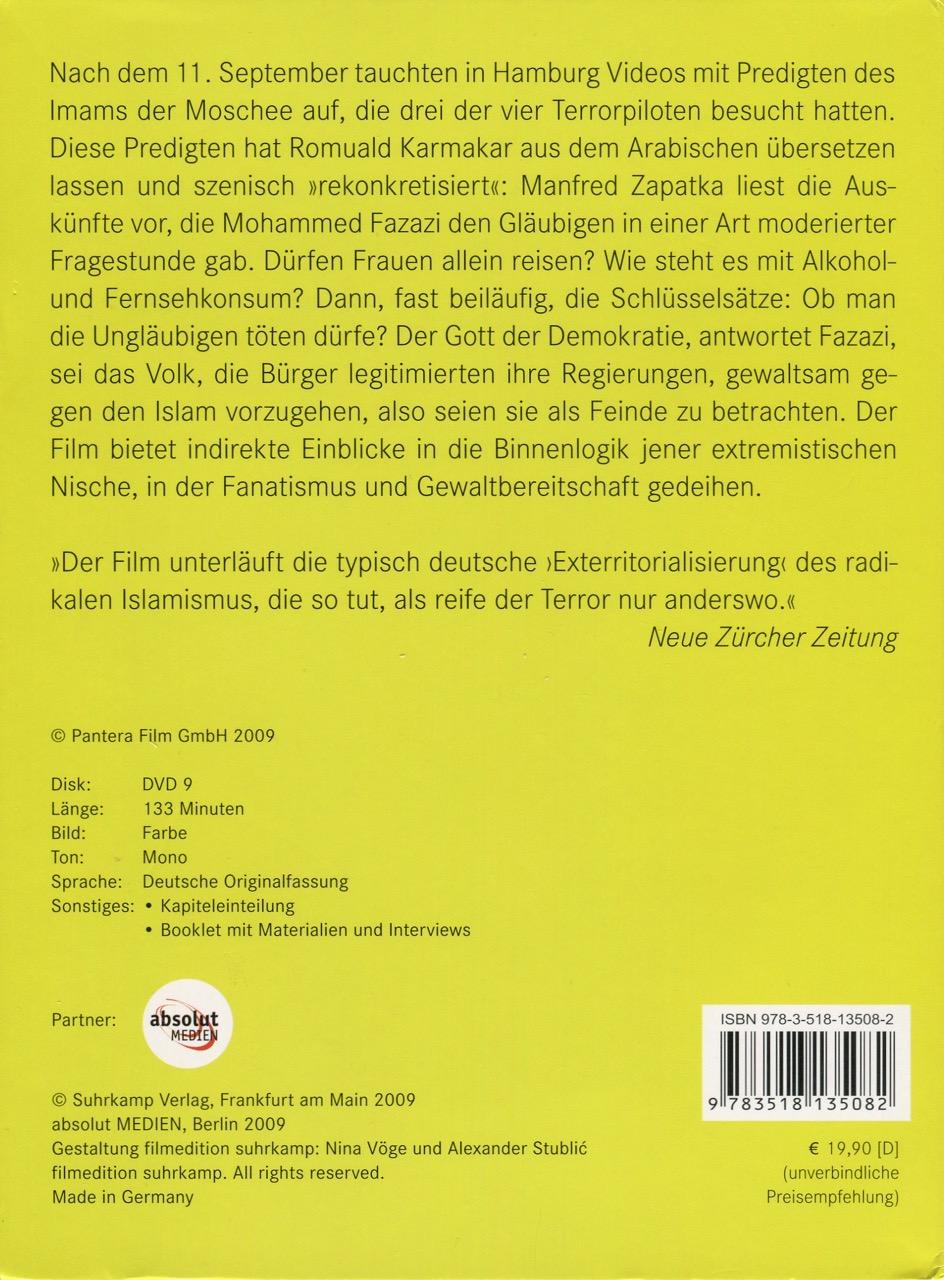 HAMBURGER LEKTIONEN - DVD