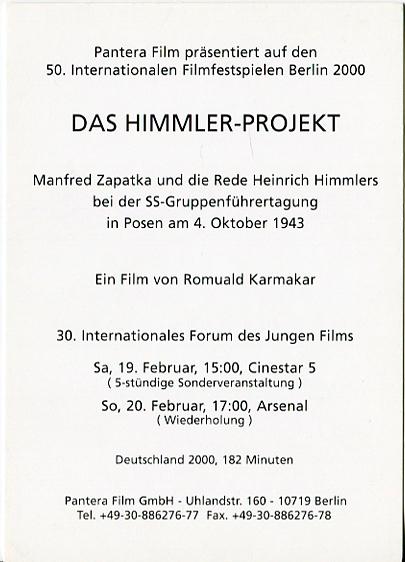 DAS HIMMLER-PROJEKT