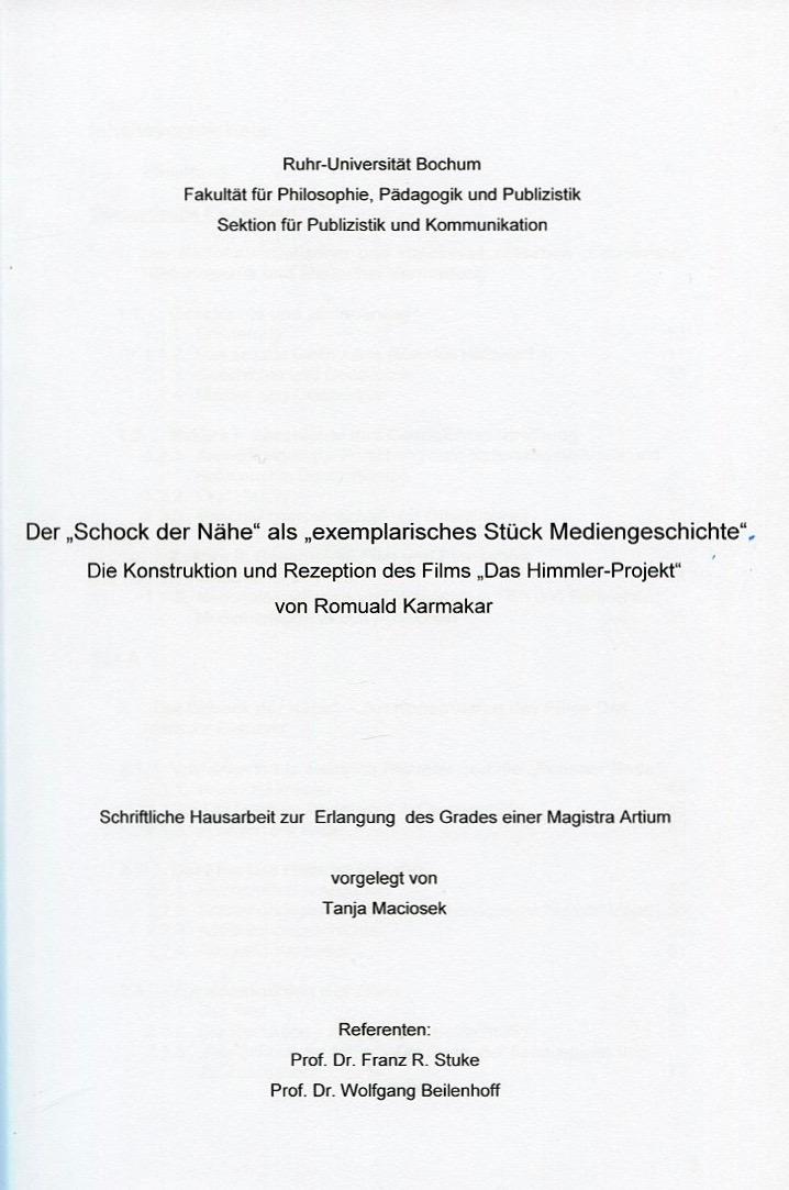 Contact Tanja Maciosek