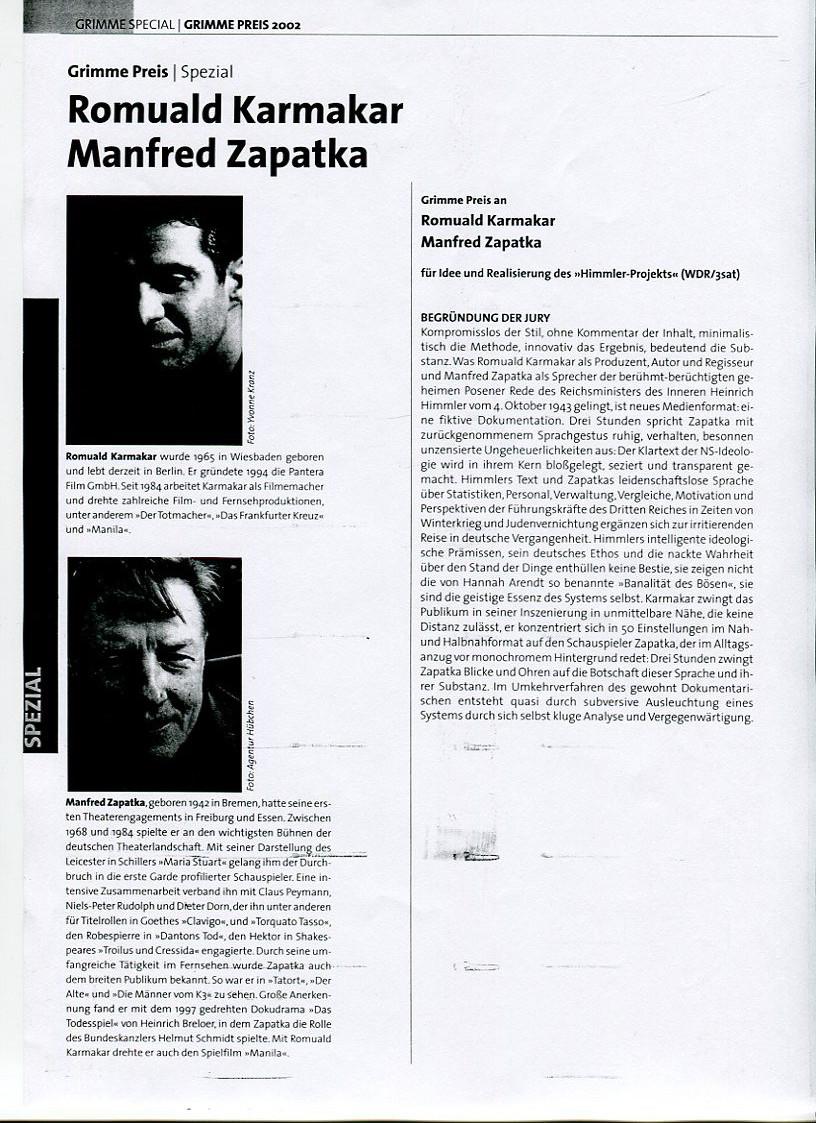 GRIMME PREIS SPEZIAL (2002)
